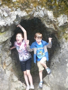 Two cave creatures